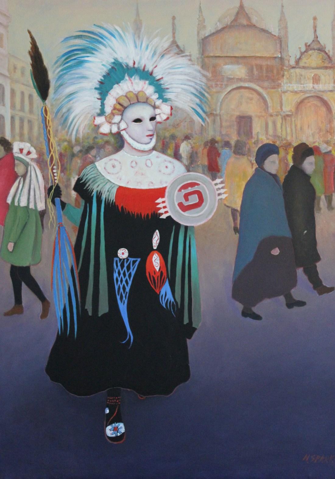 Aztec girl oil on canvas 75x100. available JPG