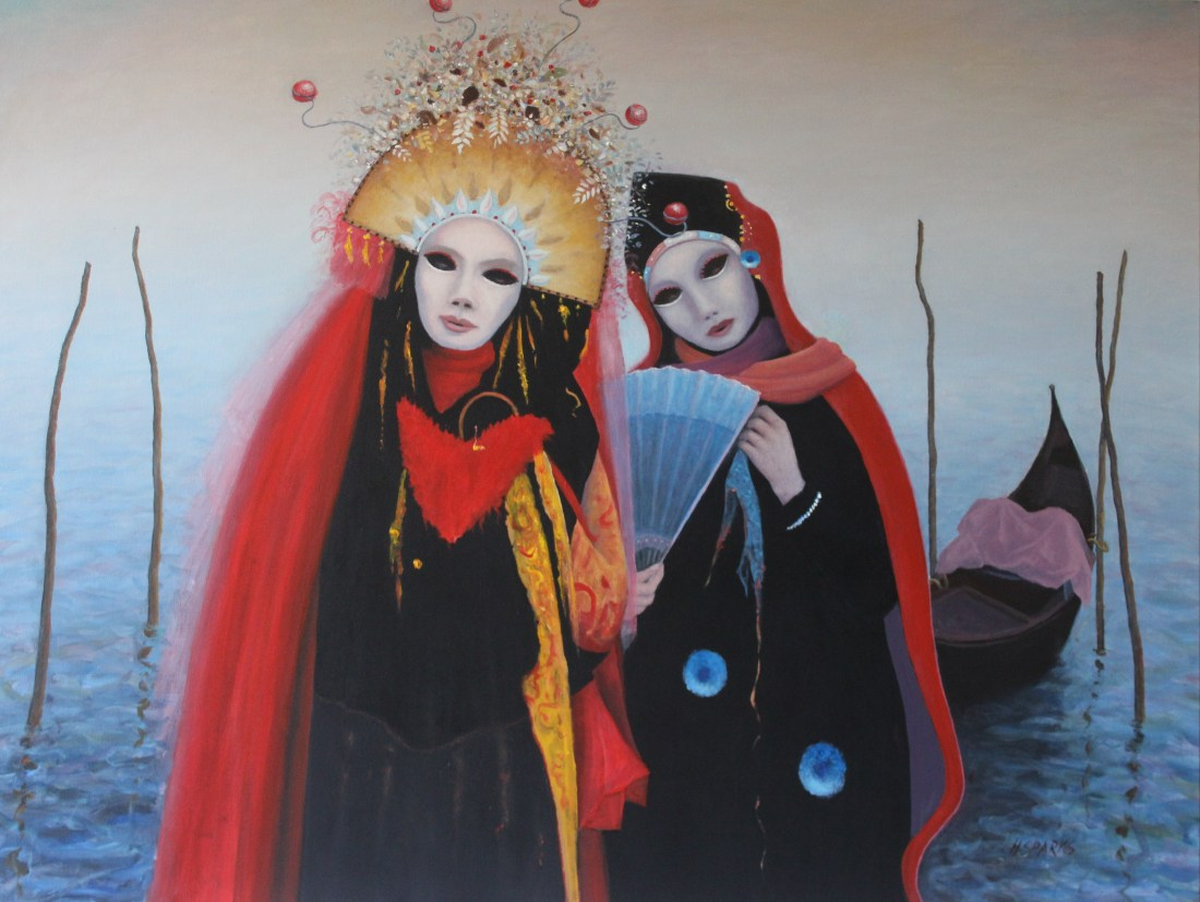 Carnival costumes oil and acrylic 120x90