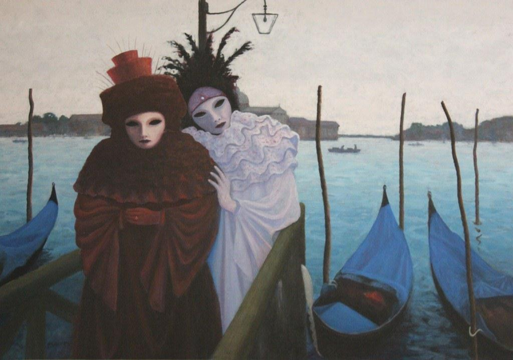Carnivale Girls Venice acrylic 120x90 - Copy