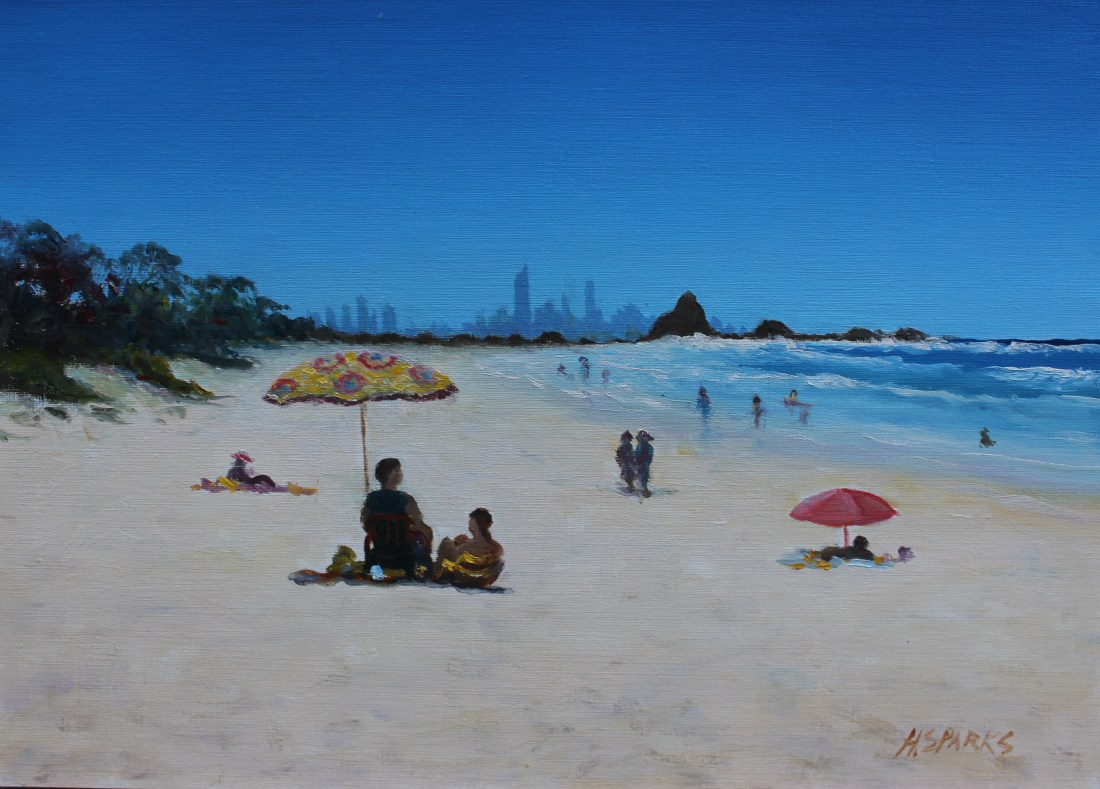 Currumbin oil A3 canvas paper (2)