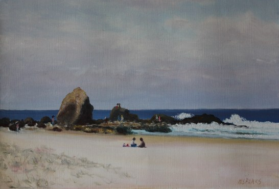 Currumbin seaway Medium: oil Size: 29x39 cm