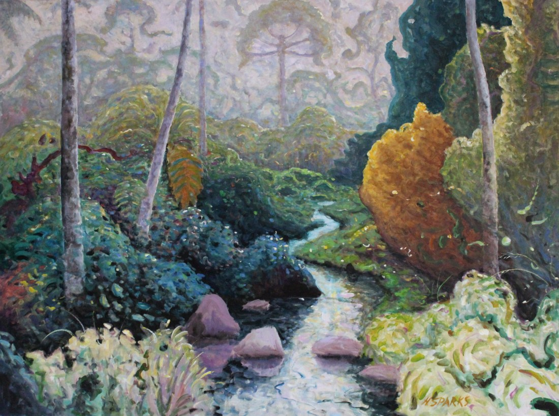 Garden Stream acrylic 90x120.JPG