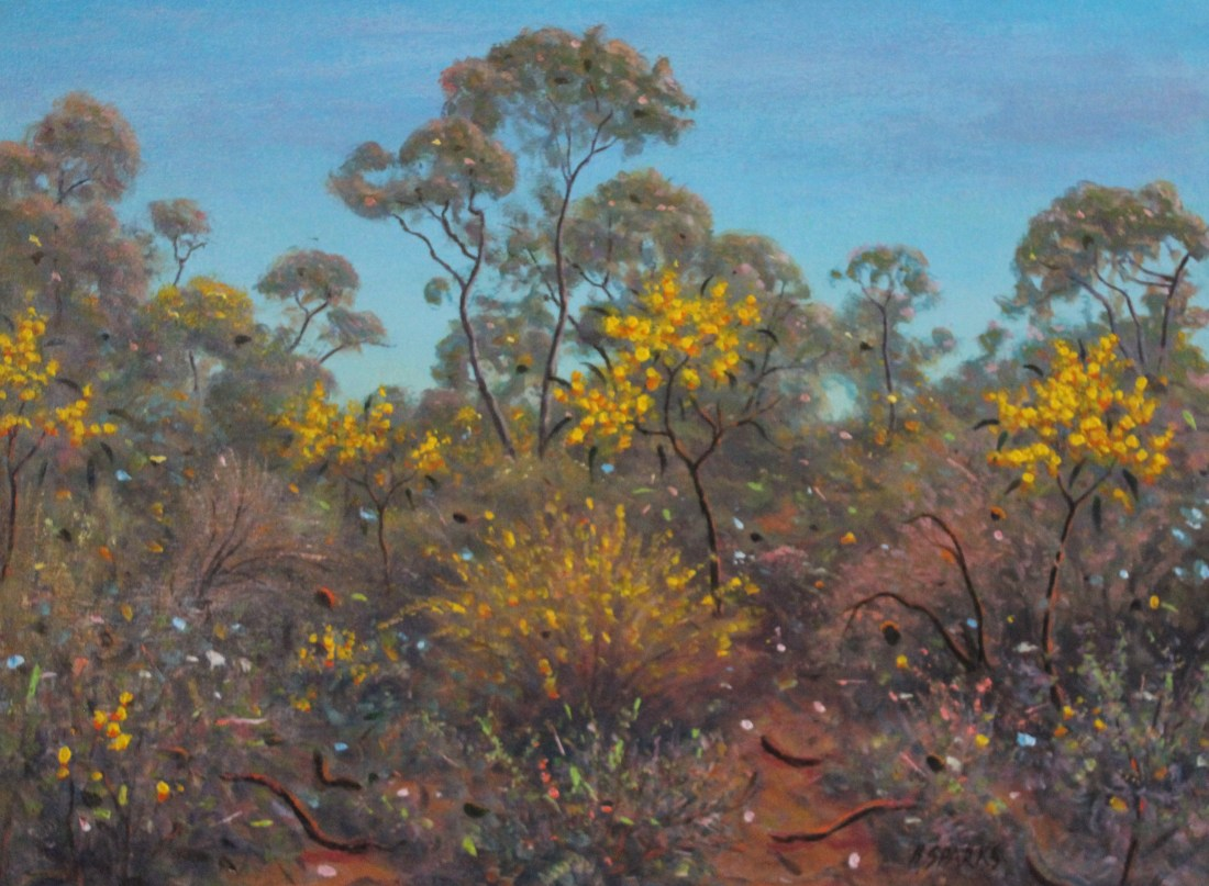Golden Wattle acrylic 46x61 2
