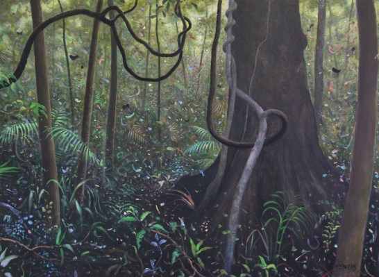 Rain forest O'Reilly's Medium: acrylic Size: 75x100cm