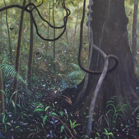 Rain forest O'Reilly's Medium: acrylic Size: 75x100cm