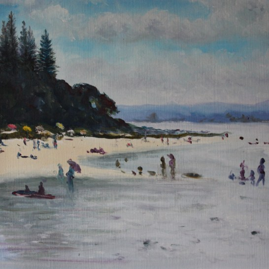 Rainbow Bay Beach Medium: Size: oil 29x39 cm