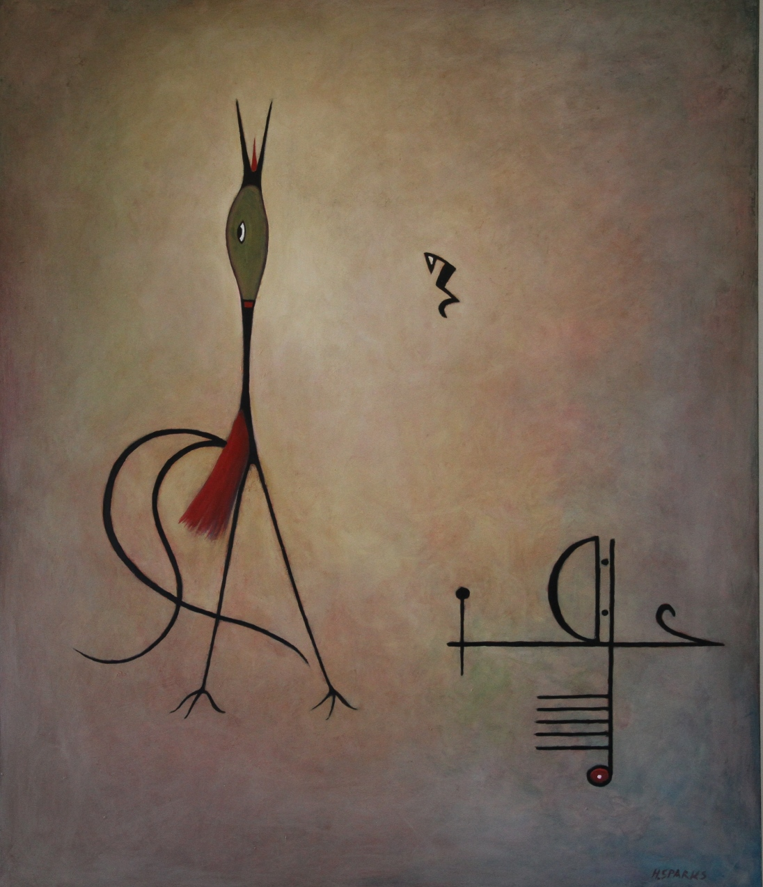Song Bird Medium: oil Size: 76x91 cm