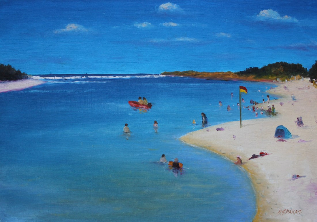 Tallebudgera creek oil A3 canvas paper - Copy