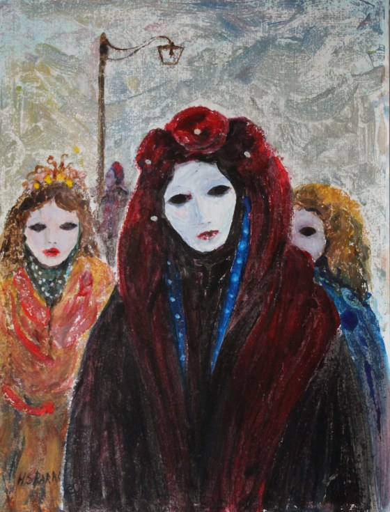 Three girls Venice oil 39 x 29 JPG available