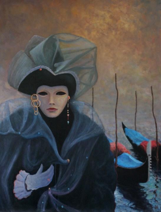 Venetian Girl Medium: acrylic Size: 91x122 cm