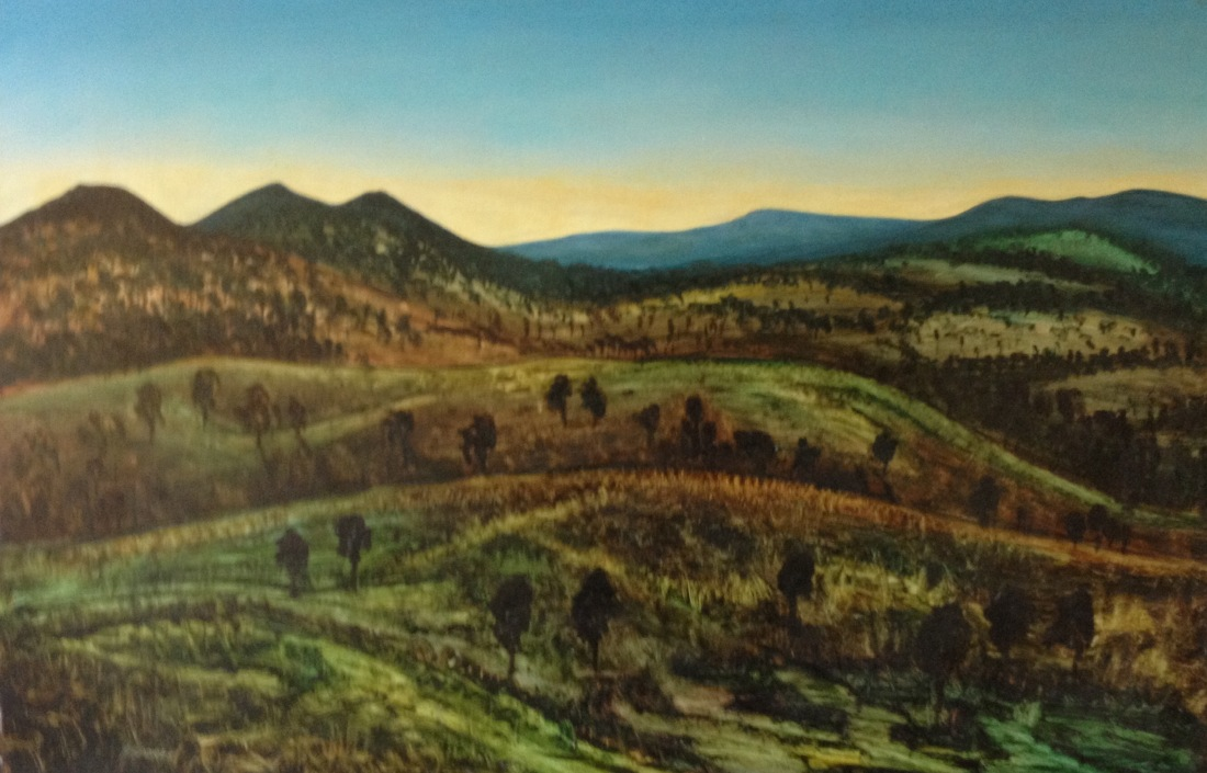 Mc Pherson Ranges QLD oil 61x91 cm
