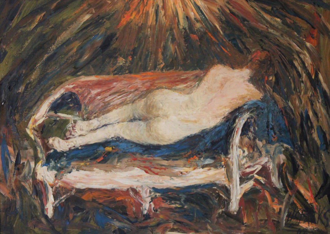 Nude on a couch 55x40 oil