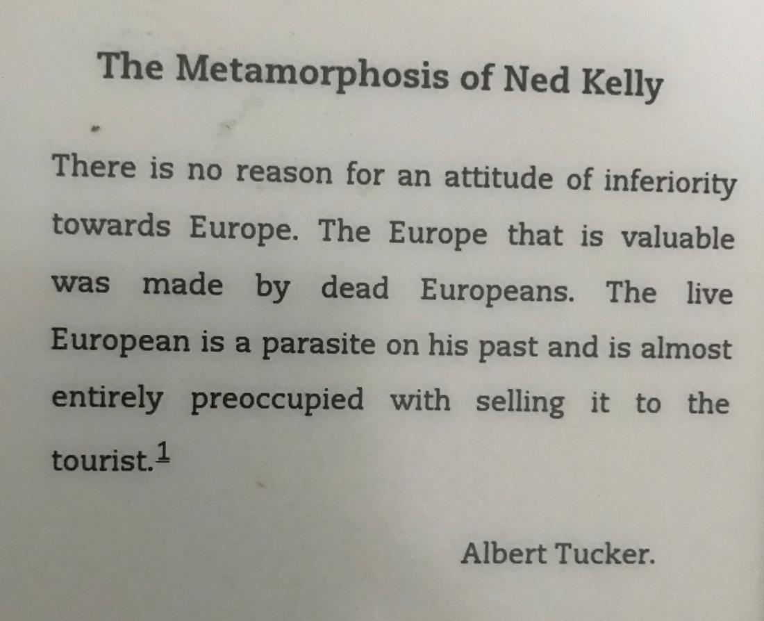 Comment from Albert Tucker