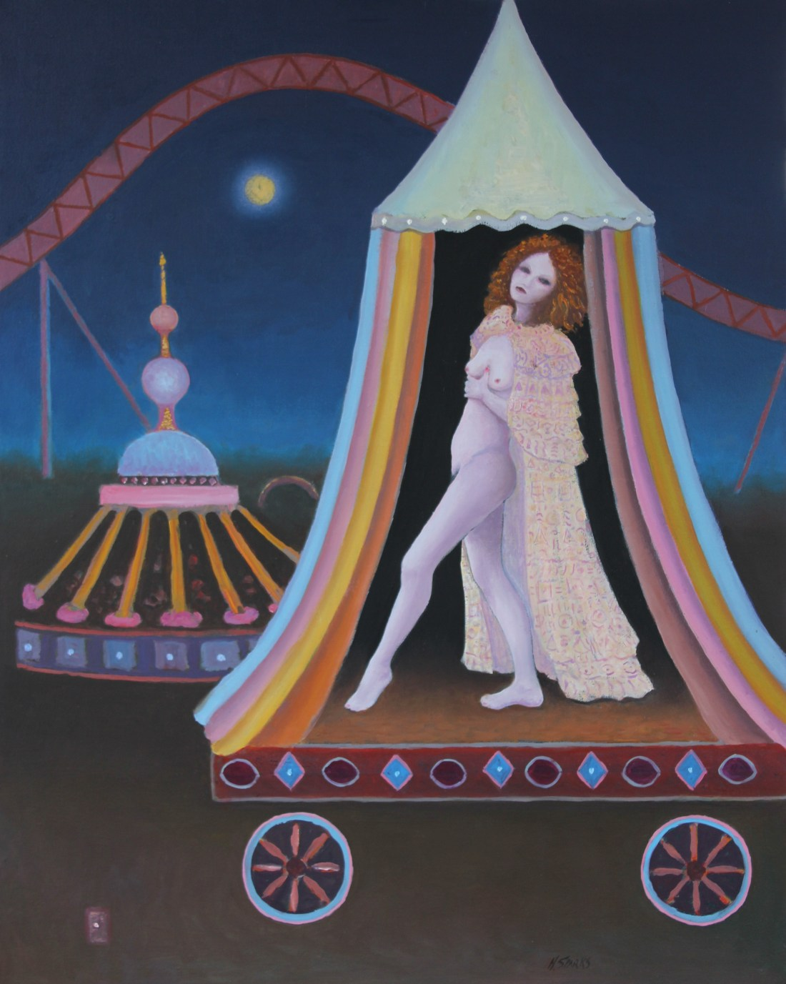 Girl in a Tent oil 61x76